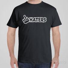 Funny T-shirt F#CK HATERS rude JDM Japan drift shocker Tee shirt