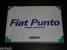 Betriebsanleitung / Owner's Manual Fiat Punto 1995