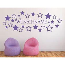 Wandtattoo Sterne  Wunschtext Wunschname Wandaufkleber Name Stern Sticker 2