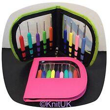 KnitPro Waves Crochet Hooks Set of 9. Pink or Green. Choose colour