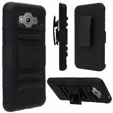 For Samsung Smart Phones Case Cover Defender Armor Box Belt Clip Holster Black