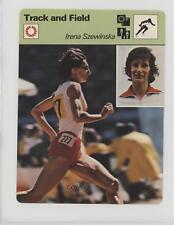 1977 1977-79 Sportscasters Series 03 Lausanne #03-22 Irena Szewinska Card