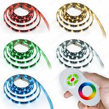 RGB LED Strip Set 5050 Strip Stripes Band Rail Holiday Lights Touch fernbedinu