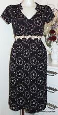 Vive Maria elegantes Kleid Summer Garden Dress black florale Borte Schwarz 31399