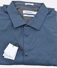 Calvin Klein Men's Casual Shirt Printed Gray, Blue