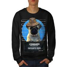 Pug Animal Criminal Dog Men Sweatshirt NEW | Wellcoda