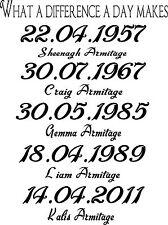 I nomi di famiglia muro ARTE Vinile Grafico Adesivo Carta da Parati Decalcomania!!!