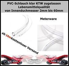 PVC-SCHLAUCH klar -METERWARE- WASSERSCHLAUCH LUFTSCHLAUCH BENZINSCHLAUCH