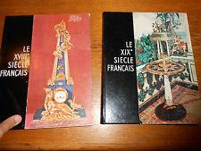 "Two French Art Books ""Le XIX Siecle Francais & Le XVIII Siecle Francais 1956 57"