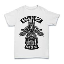 Skull Rider Born To Ride T shirt motor motorcycle biker S-3XL