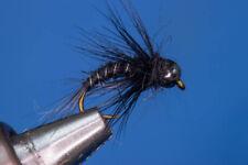 Fliegentom 3080 - 3er Pack Schwarze Uni-Nymphe mit Tungstenkopf
