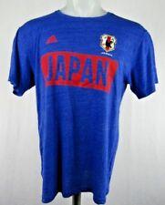 Japan National Football Team Men's L and XL Adidas T-Shirts JFA Blue