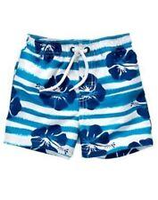 Gymboree Swim Shop Blue Stripe Floral Swim Trunks 6 12 18 24 Nwt