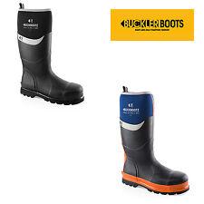Buckler BBZ6000BK/BL Waterproof Rubber Safety Wellington Boots (Sizes 5-13) Mens