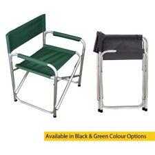 PLEGABLE LONA aluminio director jardín exterior silla en verde o negro