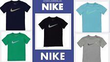 New 2018  NIike Junior Boys Cotton Swoosh Just Do It T Shirt  Age 7-15 5COLORS