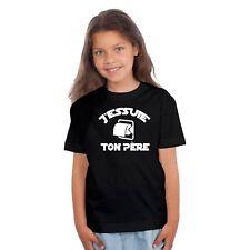 T-shirt ENFANT FILLE J'ESSUIE TON PÈRE