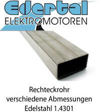 Edelstahl Rechteckrohr VA Vierkantrohr Material Rohmaterial V2A 1.4301  25-150cm