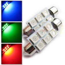 Regno Unito 2x C5W 31 36 38 41mm Interni Auto Rosso / Verde / Blu Festoon LED Lampadina SMD