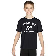 T-shirt ENFANT J'PEUX PAS J'AI ECOLE