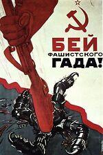 WW2 - Photo affiche soviétique - Ecrasez le scorpion fasciste