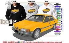 88-91 EA FALCON SEDAN HOODIE ILLUSTRATED CLASSIC RETRO MUSCLE SPORTS CAR