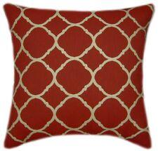 Sunbrella Accord II Crimson Indoor/Outdoor Geometric Pillow
