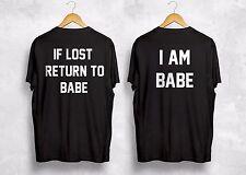 En caso de pérdida de retorno a Babe soy la chica Camiseta par de regalo que empareja colpo marido