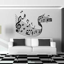 Musical Notes Wave Sheet Music Wall Art Sticker Vinyl Decal X-Large (AS10005)