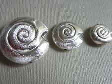 SCHNECKE rund Silber Perle Zwischenteil Kupfer Metall versilbert Auswahl 2647