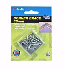 2x Zenith CORNER BRACE Repair Timber Joints ZINC PLATED 4pcs, 38 50 or 63mm