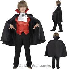 CK871 Dracula Vampire Cape Halloween Horror Scary Child Boys Fancy Dress Costume