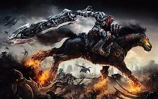 Darksiders PlayStation Xbox Poster Wall Art FREE P&P  E271