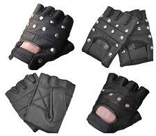 Punk Rave Mens Fingerless Gloves Black Gothic DieselPunk Heavy Metal Rock Biker