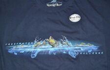 Newport Blue T-Shirt Quality Tee Freshwater Challenge Bass Fishing