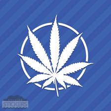 Pot Leaf With Circle Vinyl Decal Sticker Cannabis 420 Marijuana Weed Drugs