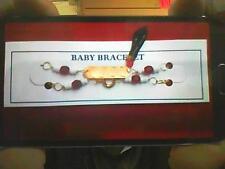 BABY BRACELET WITH BLACK AZABACHE HAND (( BRANDNEW ))..