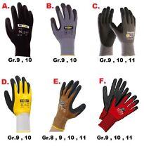 Montagehandschuh Maxiflex , Kori Grip / Red , Black Touch , Latex Gr. 8,9,10,11