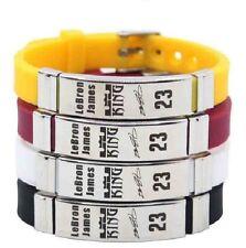 LeBron James Basketball Bracelet Silicone Stainless Steel adjustable Wristband