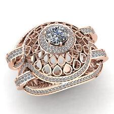 5carat Round Cut Diamond Ladies Solitaire Dome Bridal Engagement Ring 18K Gold