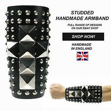 Gothique Handmade En England Clou Pyramide R_glable Brassard 100% V_ritable Cuir