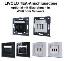 Livolo Tea-Anschlussdose Opcional con Marco de Cristal en Negro o Blanco