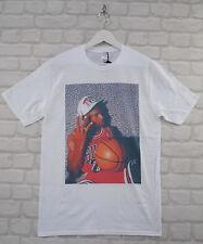 Fait Michael Jordan 3 doigts Blanc Ras du Cou Tee T-Shirt