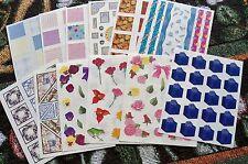 Creative Memories Block Sticker Sheet~U Choose One~Colorful Sqs/Borders/Flowers