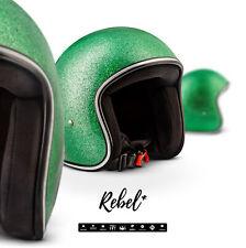 REBEL R2 FLAKES G Jet-Helm Vespa Motorrad-Helm Roller Chopper XS S M L XL