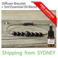 Lava Stone Black Agate Onyx Essential Oil Diffuser Bracelet