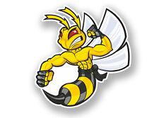 2 X Pegatina De Vinilo De Angry Hornet animales Wasp #7080