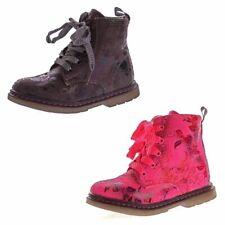 Kinder Boots leicht gefüttert Mädchen Knöchel Schuhe Stiefel Blumen Muster 26-31