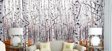 3D Silver Birch Forest Wallpaper Decal Decor Home Kids Nursery Mural  Home