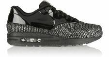 BNIB New Women Nike Air Max 1 VT Black Metallic Silver QS Wool Size 6 UK